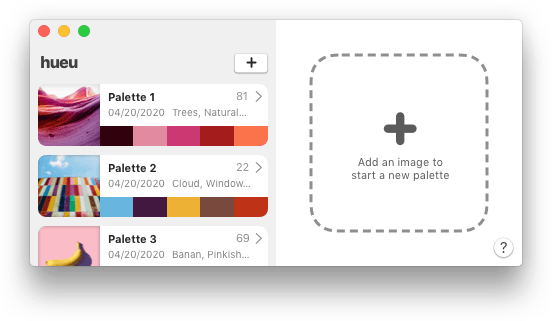 hueu color picker app mockup